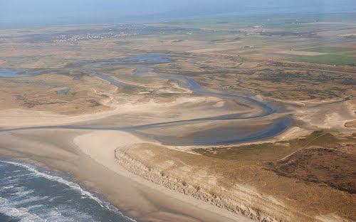 De Slufter, incoming saltwater through the dunes.